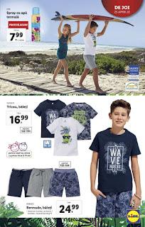 CATALOGUL LIDL 22 - 27 aprilie 2019 promotii tricouri baieti