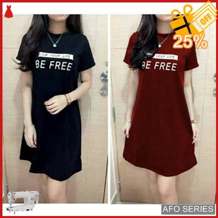 AFO131 Model Fashion Bee Free Dress Modis Murah BMGShop