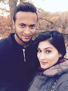 Shakib Al Hasan With His Wife Umme Ahmed Shishir