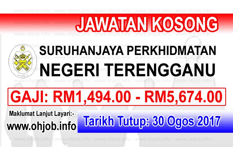 Jawatan Kerja Kosong Suruhanjaya Perkhidmatan Negeri Terengganu - SPNT logo www.ohjob.info ogos 2017
