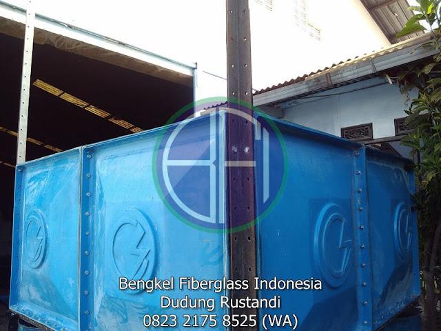 tangki fiberglass model panel kotak untuk hotel