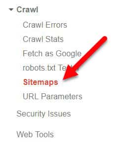 Crawl then Sitemaps