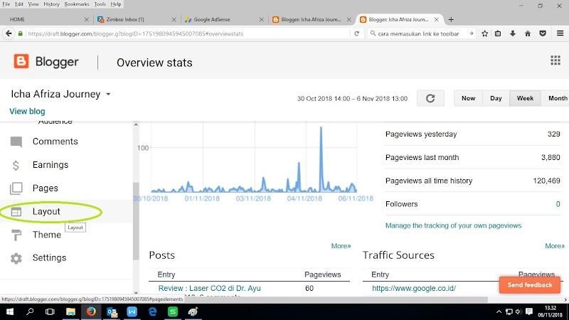Cara Membuat Toolbar di Blogspot