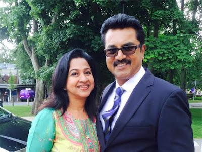 Actress Radhika and Sarath Kumar