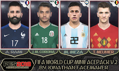 PES 2018 Mini Facepack World Cup 2018 v2 by Jonathan Facemaker
