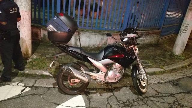 GCMs da 3º Inspetoria frustam tentativa de roubo a moto no Jardim Teles de Menezes em Santo André
