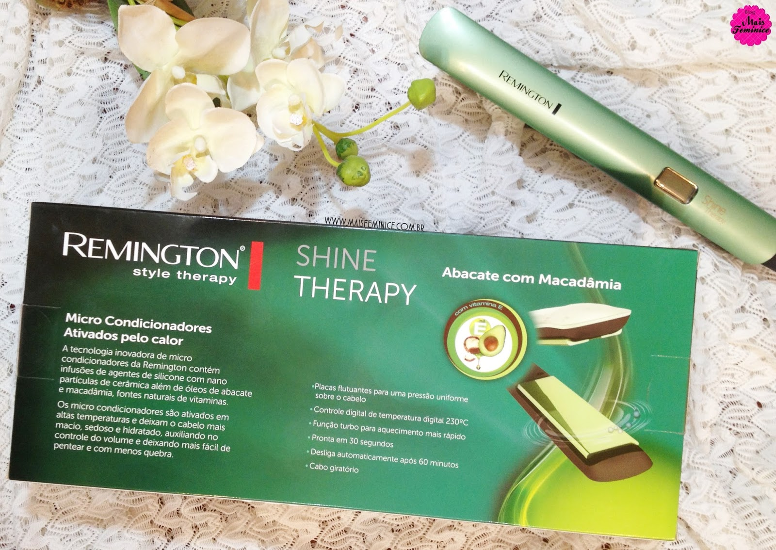 Prancha Shine Therapy da Remington