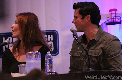 Jewel Staite and Sean Maher at the Firefly reunion panel at LBCC 2016