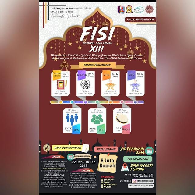 Event Festival Seni Islami (FISI) XIII 2019 SMP Sederajat