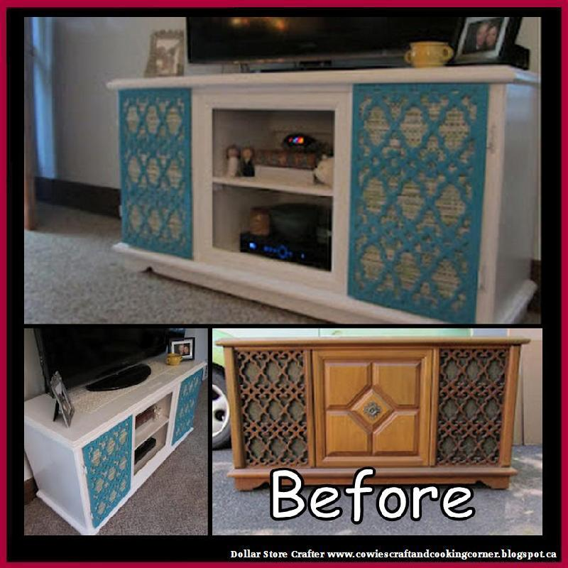 Turn An Old Record Player Cabinet Into