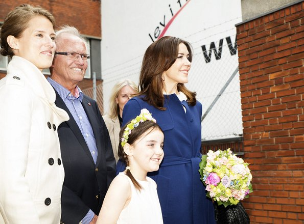 "Crown Princess Mary of Denmark visited the workshop, ""The Red Cross of the Capital"" with the Mary Foundation in Copenhagen"