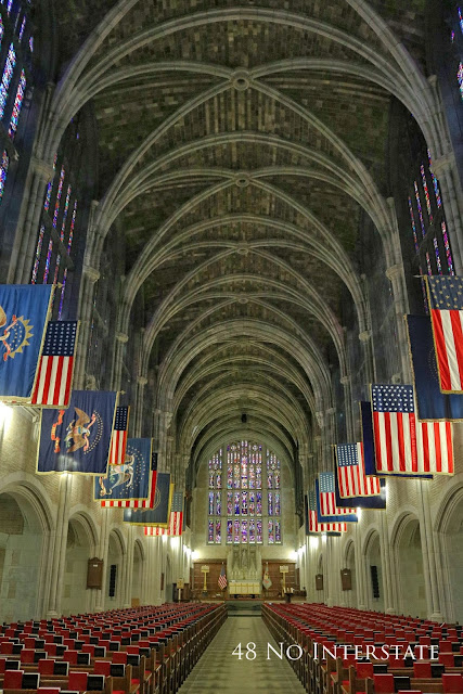 48 No Interstate back roads cross country coast-to-coast road trip Cadet Chapel West Point New York United States Military Academy