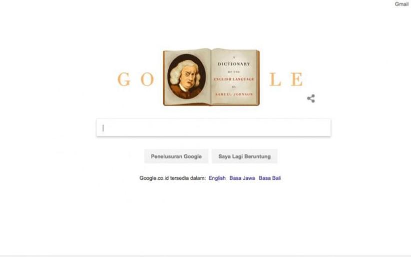 Google Doodles Arti Gambar Logo Google Hari Ini Mengenal Samuel Johnson Google Doodle Indonesia 18 September 2017