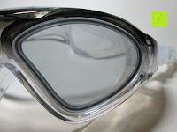 Glas: »Swordfish« Jugend-Kinder-Schwimmbrille (ideal auch für Damen) / 100% UV-Schutz + Antibeschlag + 180° View. Starkes Silikonband + stabile Box. TOP-MARKEN-QUALITÄT! AF-9700 schwarz