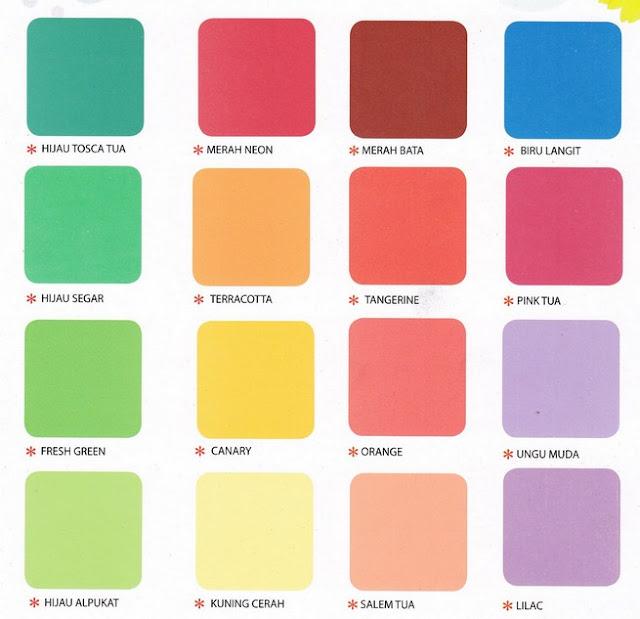 contoh warna cat tembok