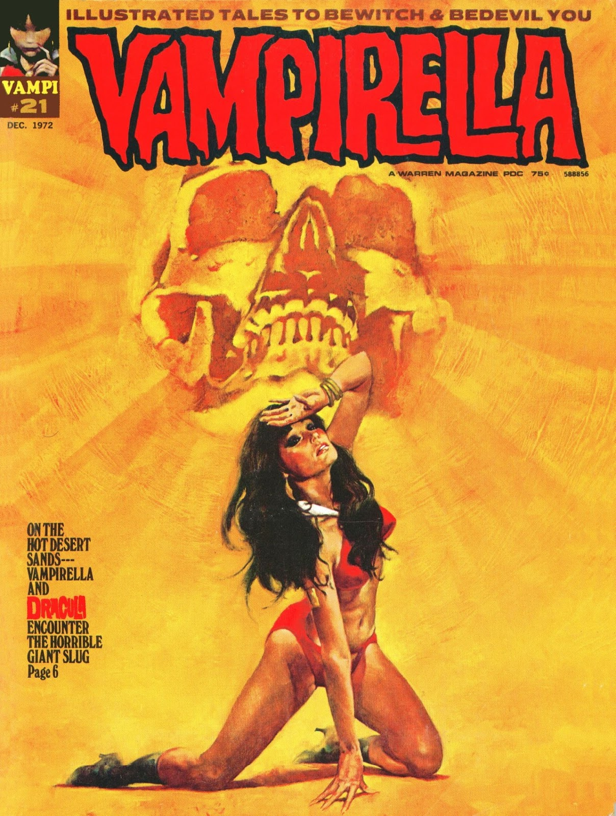 Images: A Wonderful Collection Of Sexy Covers From The Classic Horror Comic Book Vampirella 1972-1973