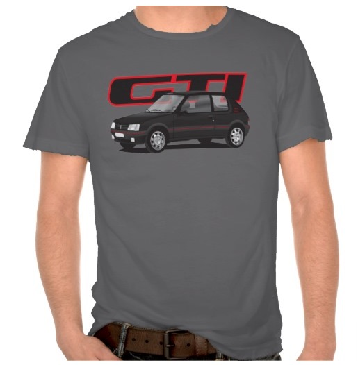 peugeot 205 gti t-shirt with tshirt
