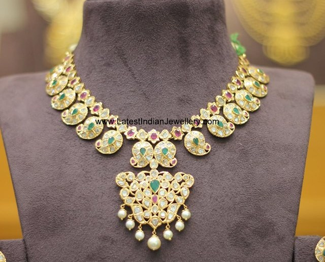 Uncut Diamond Mamidi Pindela Necklace
