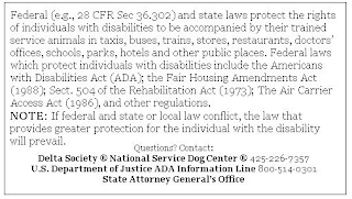 image relating to Printable Ada Service Dog Card known as Nox The Assistance Canine: August 2017