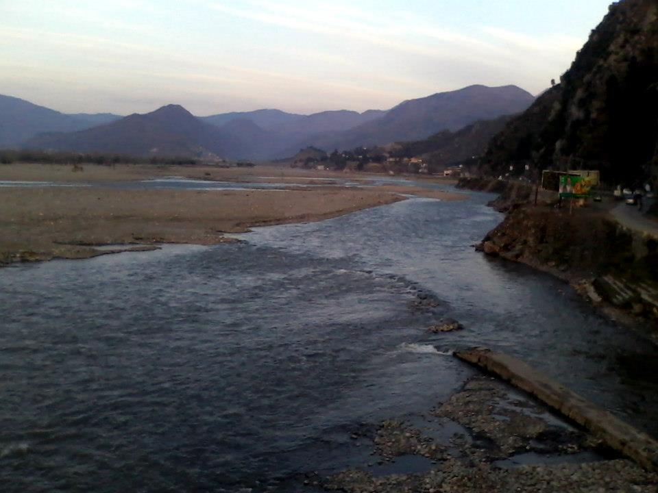 """Swat River near Fiza Ghat Park. Swat Pakistan"