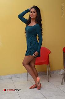 Telugu Actress Prasanthi Stills in Green Short Dress at Swachh Hyderabad Cricket Press Meet  0114.JPG