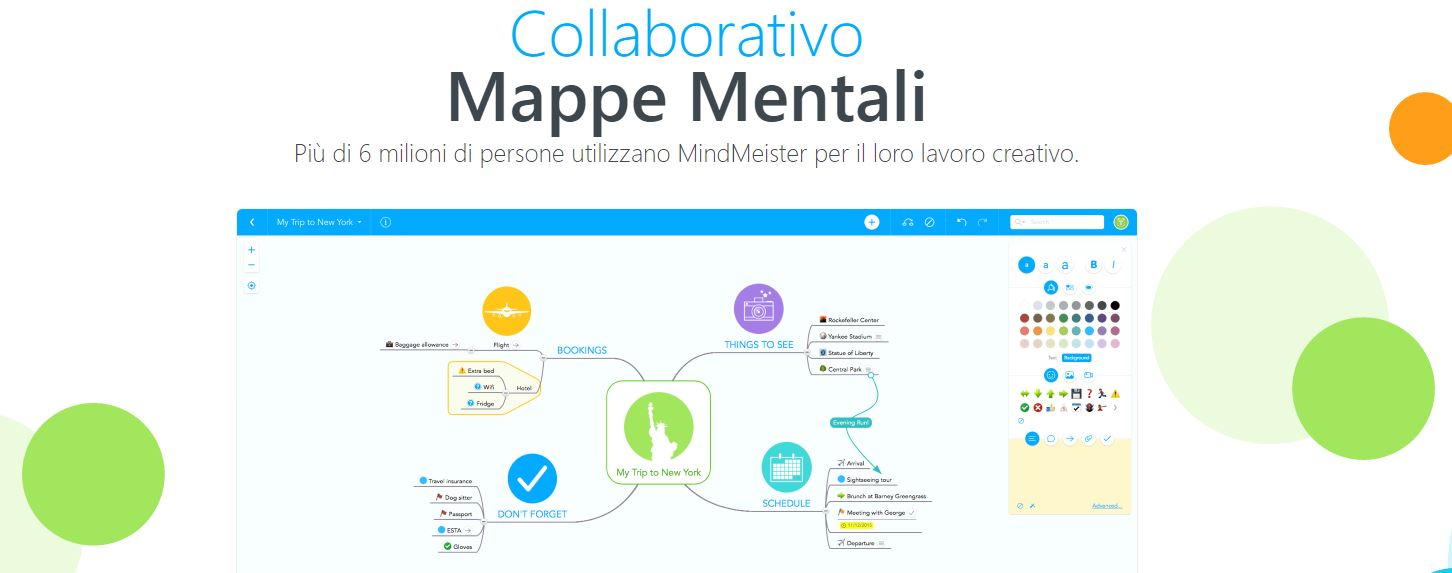 MindMeister mappe concettuali online