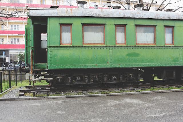 old train in Stalin Musuem