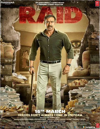 Raid (2018) Hindi 480p HDRip 300MB