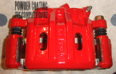 powder coated brake caliper red