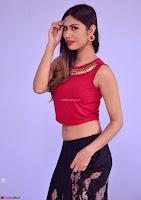 Nishi Gandha in Beautiful Red Crop Top ~  Exclusive 002.jpg
