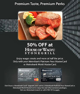 Metrobank Credit Card Promo: House of Wagyu Stonegrill 50% OFF