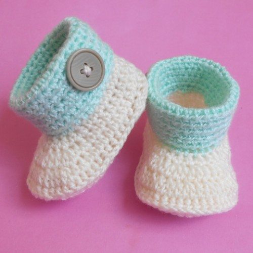 Baby Cuffed Booties - Free Pattern