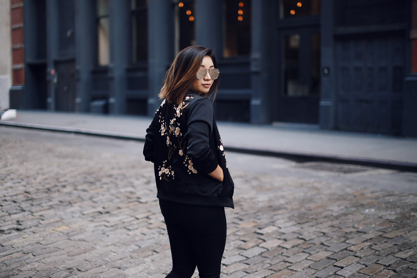 I definitely stocked up on bomber jackets over the past few months, but  this one was the cherry on top of it all. Something a little more ornate and  ... df6e04cd82