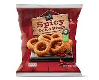 A stock image of Season's Choice Spicy Onion Rings, from Aldi