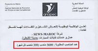 تشغيل 3600 عامل وعاملة كابلات السيارات بمدينة القنيطرة   لفائدة شركة سيوز المغرب  ( 300 منصب كل شهر )
