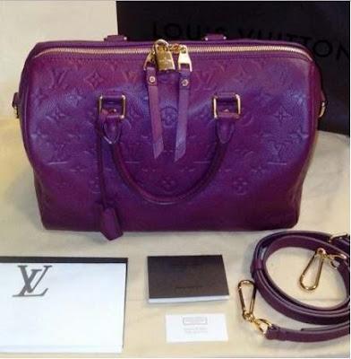LV Speedy 30 Mono Empreinte Bandouliere Purple
