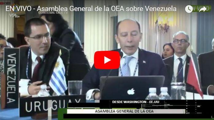 EN VIVO - Asamblea General de la OEA sobre Venezuela