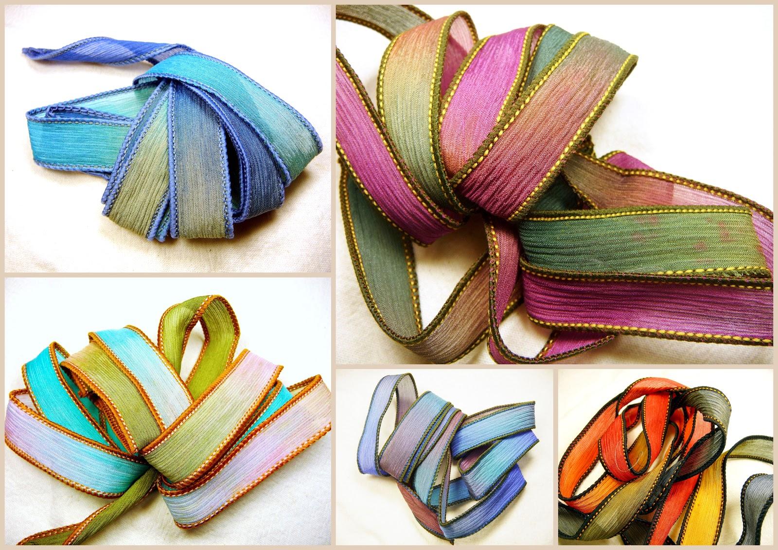 Populaire Bijoux de Création: Période couleur 1 : Rubans de soie colorés RU78
