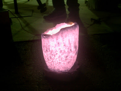Glowing hot crucible
