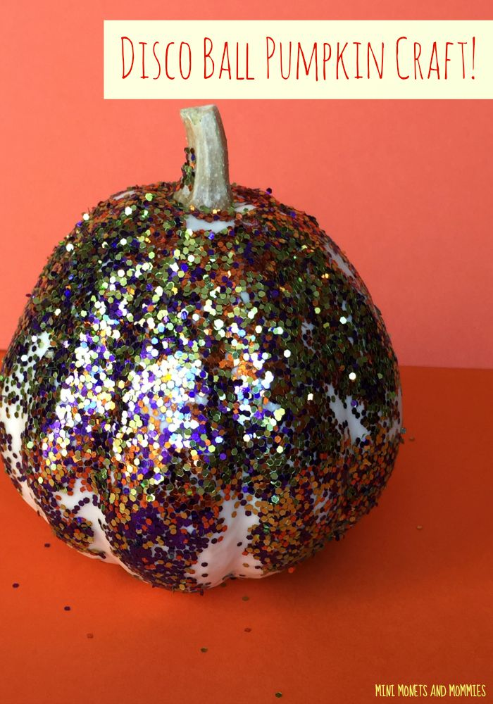 Mini Monets And Mommies No Carve Glitter Pumpkin Craft
