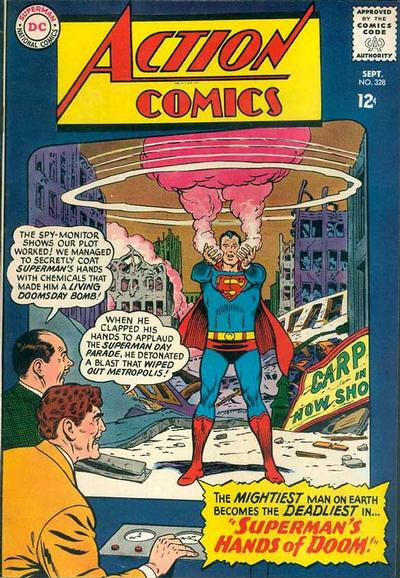 Episode #386 Part IV: Superman Comic Book Cover Dated September 1965: Action Comics #328!