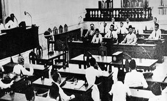 Foto Pembentukan BPUPKI 1 Maret 1945