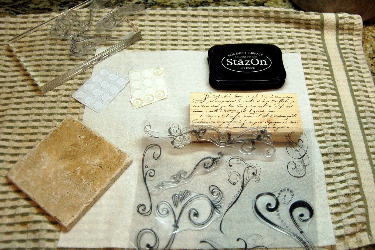 Gift Idea Stamped Tile Coasters Scattered Thoughts Of A