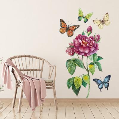 vinilo floral botanico 1001