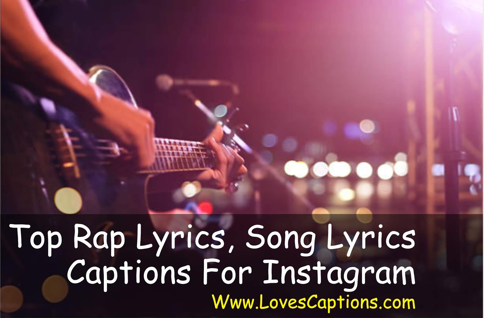 100 Songs Lyrics Instagram Captions For Selfies Pictures 2018 Rap