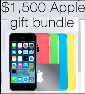 No Sweepstakes to enter Win a $1500 Apple Gift Bundle