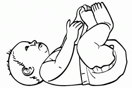 Gambar Mewarnai Bayi