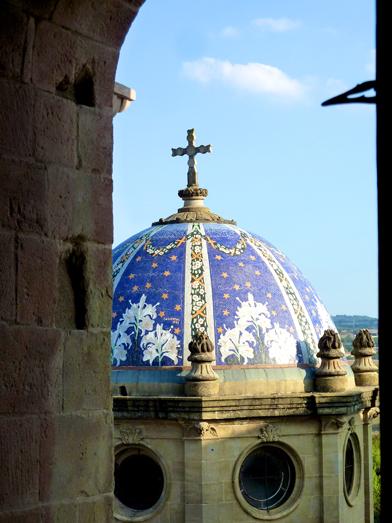 Vista de la cúpula de la Catedral de Solsona desde el campanario