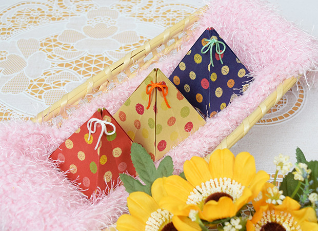 Cách gấp xếp túi quà hình chóp bằng giấy origami - How to make an origami small gift