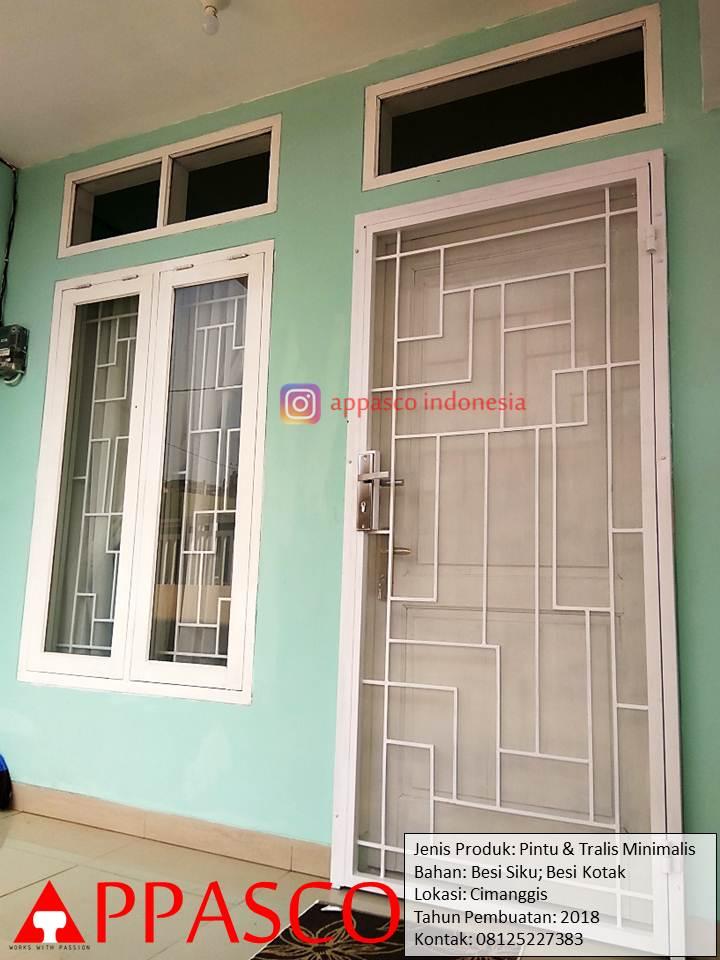 Pintu Besi Teralis Minimalis Anti Nyamuk dan Intip di Cimanggis Depok